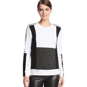 AIKO Intermix Mod Color Block Sweater Shirt